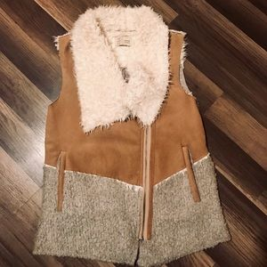 Anthropologie Faux Shearling Vest